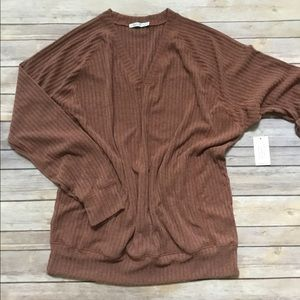 Crescent Drive Track V Sweater Size 2/3 NWT